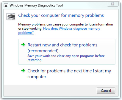 Windows Memory Dignostic