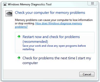 Windows Memory Dignostic